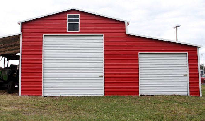 Barn with Tractor – Bennet Sheds of NC
