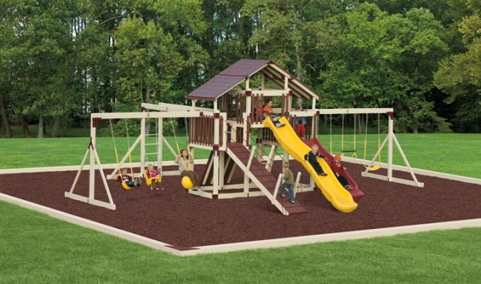 amish made playset gymset